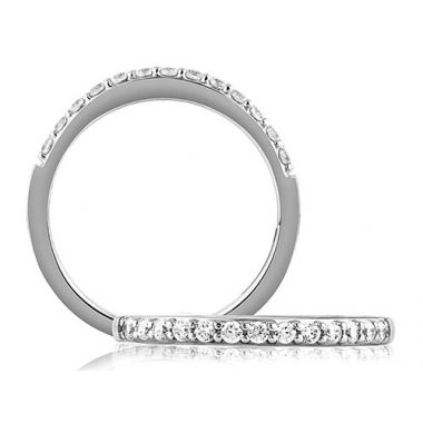 A. Jaffe 18k White Gold Classic Shared Prong Wedding Band
