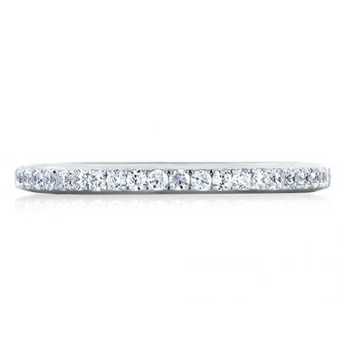 A. Jaffe 18k White Gold Classic Pave Set Diamond Wedding Band