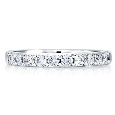 A. Jaffe 18k White Gold Classic Signature Diamond Wedding Band