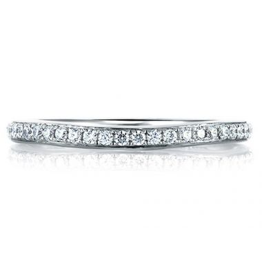 A. Jaffe 18k White Gold Classic Pave Signature Diamond Wedding Band