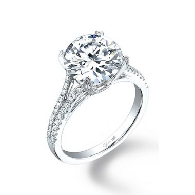 0.37tw Semi-Mount Engagement Ring With 8X7 Cushion Head
