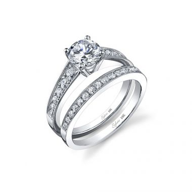 0.35tw Semi-Mount Engagement Ring With 1ct Round Head