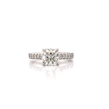 ONE 14 KARAT WHITE GOLD ENGAGEMENT RING