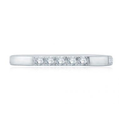 A. Jaffe 18k White Gold Segmented Diamond Anniversary Band